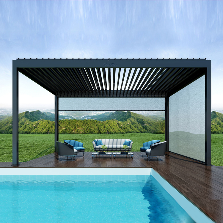 Motorized Louvered Pergola Roof Waterproof Pergola Covers