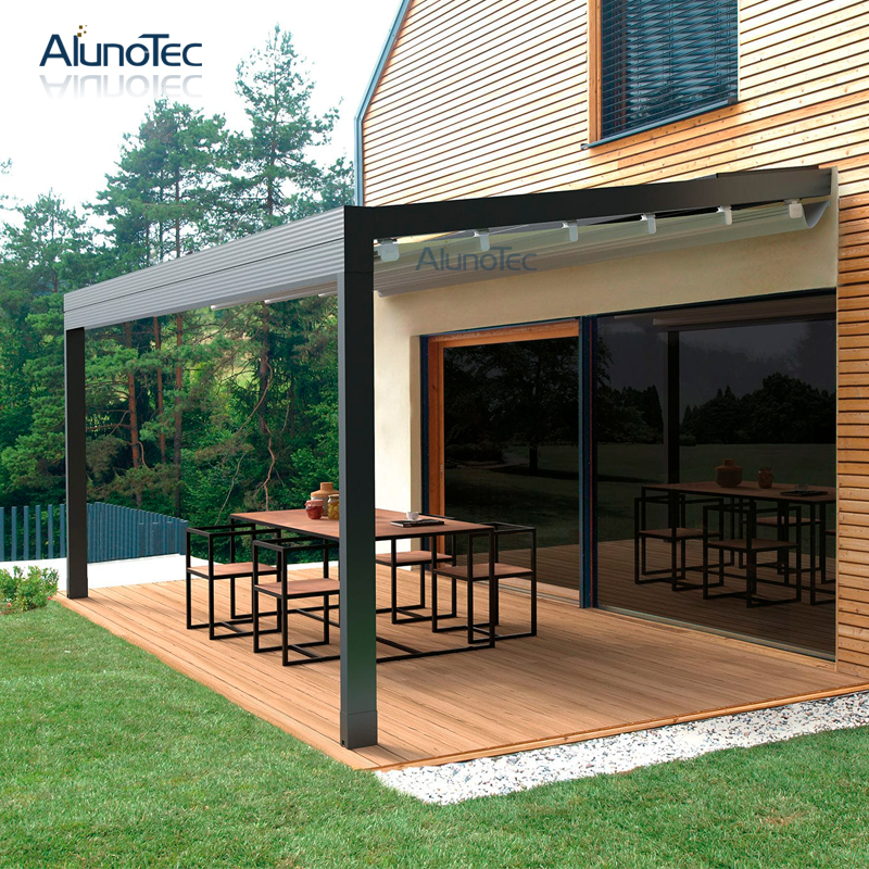 Retractable Electric Waterproof Gazebo Pergola Awning For ...