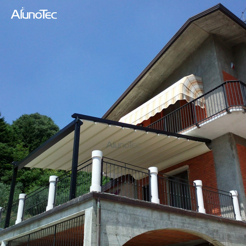 Electric Awning Aluminum Pergola Pvc Retractable Roof With