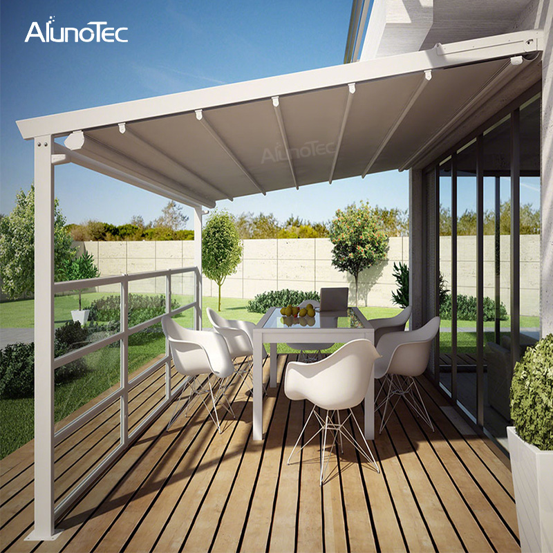 Electric Awning Aluminum Pergola PVC Retractable Roof With ...