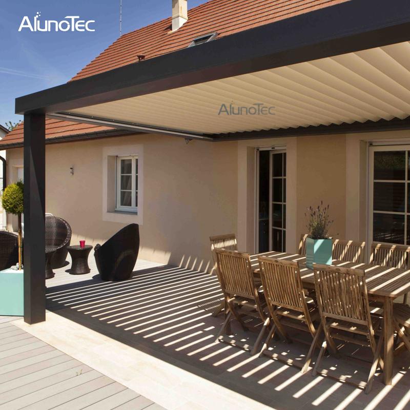 Pergola Designs With Metal Roof: Outdoor Metal Aluminium Pergolas For Patio Louvered Roof