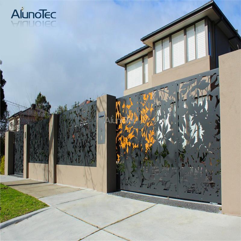 Alunotec 3d Laser Engrave Fence For Garden Decoration